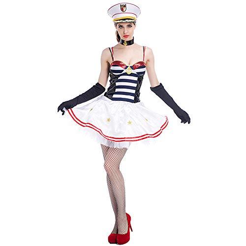 Sailor Kostüm Womens - Erotic underwear-ZY Unterwäsche & Dessous für Damen Halloween Womens Sailor Kostüm Outfit Dessous Unterwäsche @ M