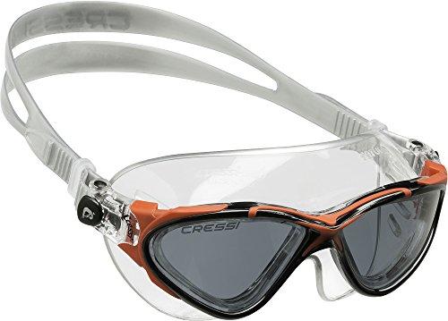 cressi-saturn-lunettes-de-natation-adulte-noir-rouge