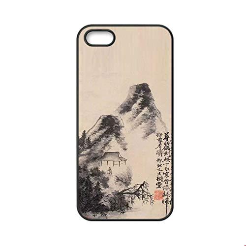 (Gogh Yeah Harte Pc-H¨¹llen Girls Design Asian Chinese Ink Painting 1 Original Verwenden Sie Auf Apple Ip5 Ip5S Se)