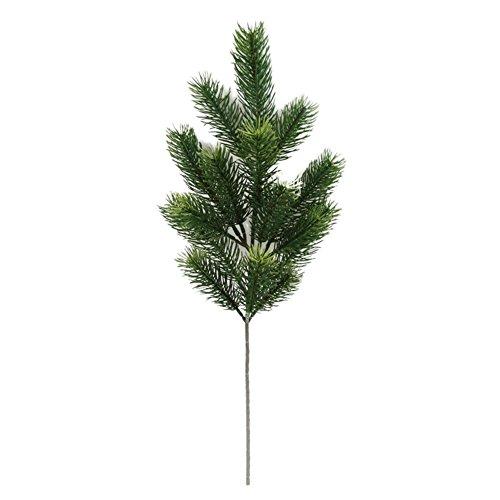 Wansan Rami di Alberi di Pino Artificiali Alberi di Natale Simulazione Decorativa Fiori Accessori per Piante Decorazione per Vaso di Ghirlanda 48cm