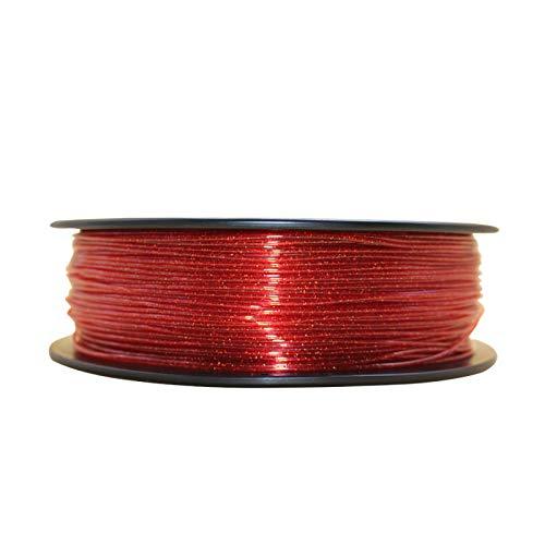 FAKER FROG P-QUARTZ Filamento de Impresión 3D - Filamento PET Premium, 1.75mm 0,02MM 1KG | Impresora 3D y boligrafo/pluma 3D (Rojo Transparente Glitter)