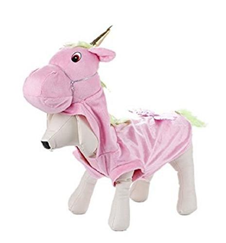 Dihope Hund Allerheiligen Kostüm Einhorn Muster Pet Kleidung Lustige Haustier Hund Bekleidung Dress up Jumpsuit Hündchen Festliche (Einhorn Kostüme Hund)