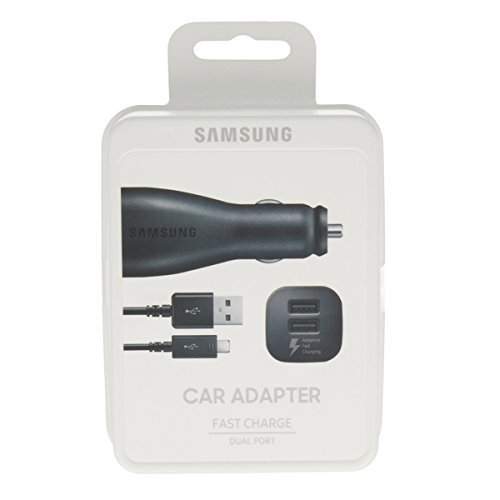 black-genuine-samsung-dual-2-port-adaptive-fast-in-car-charger-for-samsung-galaxy-s6-s6-edge-s7-s7-e