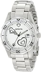 Invicta Women's Pro Diver Heart Analogue Watch 12286 with Stainless Steel Bracelet