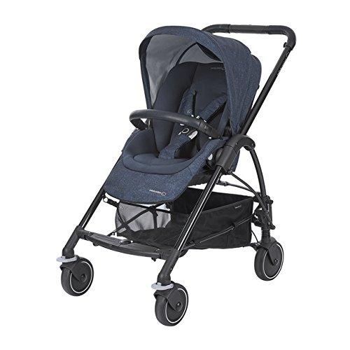 Bébé confort mya passeggino fronte/retro reversibile, richiudibile compatto, 4 ruote, per bambini dalla nascita ai 3,5 anni, nomad blue
