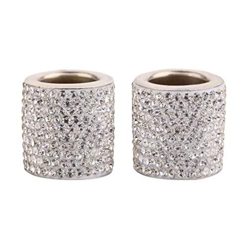 Hongma Auto Kopfstützen Halsbänder,4 Stück Kristall Universal Chrom Auto Innendekoration Bling Auto Zubehör für Frauen