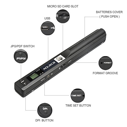 Portable scanner aoleca 900dpi handheld mobile document portable portable scanner aoleca 900dpi handheld mobile document portable scanner business card colourmoves