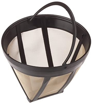Universal Size 4 Permanent Coffee Filter Made With long Lasting Gold Tone Stainless Steel Mesh Replaces Paper Filters