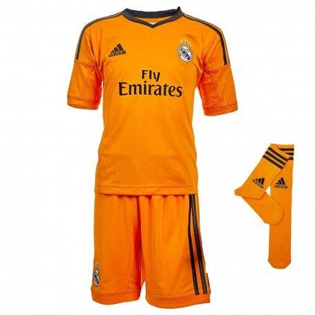 Real 3SMU Minikit–Conjunto Real Madrid fútbol bebé niño Adidas naranja