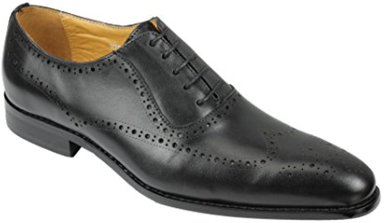 Xposed Zapatos de Cordones de Piel Para Hombre Negro Negro -