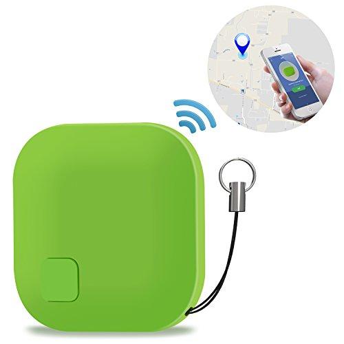 Schlüsselfinder, tronisky Key Finder GPS Tracker Mini Bluetooth Anti-Verloren Verfolger Pet Locator Wallet Finder Kamera Fernbedienung für iOS Android - Grün (Mini Wallet Farbe)