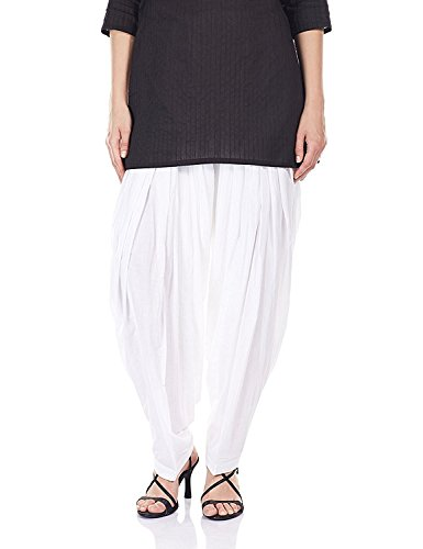 MRV FASHION Women's Patiala Bottoms(Mrv_patiala_! _White_Free Size)