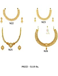 Fashion For Sure Combo Set Of Beautiful Necklaces For Lovely Womens & Girls (Combo0.17)