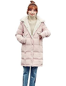lime Las mujeres sueltan cómodo chaqueta recta Invierno cálido a prueba de viento largas secciones abajo capa...
