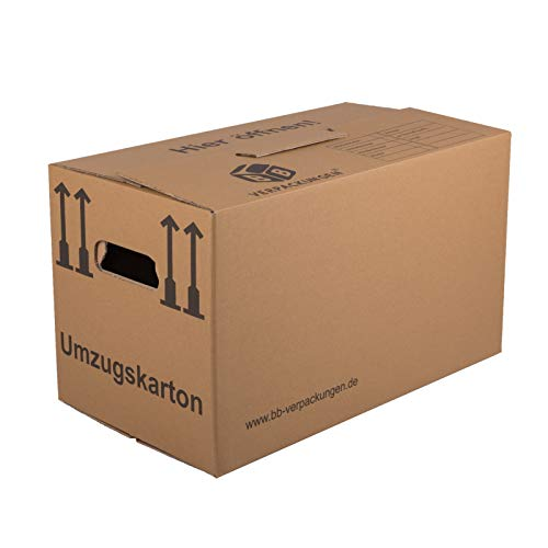 BB-Verpackungen Umzugskarton, 15 Stück, (Profi) 2-WELLIG + doppelter Boden