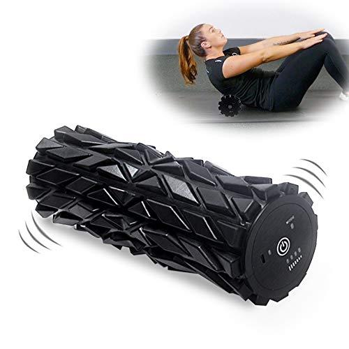 Wolady Eléctrico Rodillo de Espuma Ejercicios Musculares Eléctrico Foam Roller Masaje Muscular 4 Velocidad Terapia de Punto Muscular Ejercicio Equilibrio Tejido Profundo Liberación Miofascial Fitness