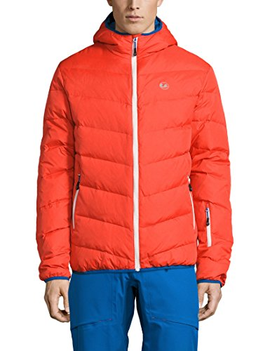 Ultrasport Herren Advanced Mylo Ski/Snowboard Daunenjacke, Orange/Victoria Blau, M (Orange Ski-jacke)