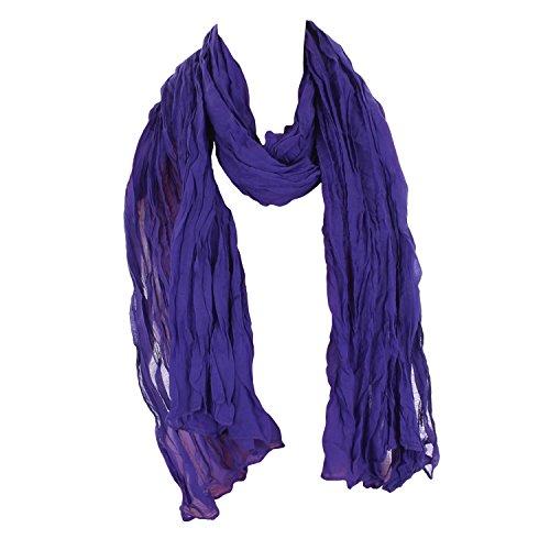 Leichter Damen Schal Nr. 374 viele Farben Lila