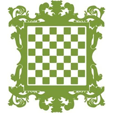 Adesivo Scacchiere barocco–gravissimo, Giallo medio, H62 cm