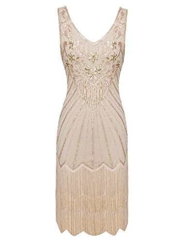 FAIRY COUPLE 1920er Gatsby Kurz Pailletten Flapper Kleid -