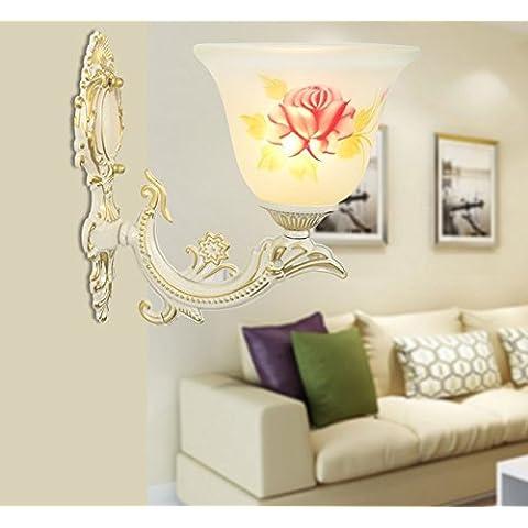 FEI&S specchio da parete lampada frontale lampada al posto letto camera da letto specchio-lampada minimalista in stile salotto lampada da parete #18B