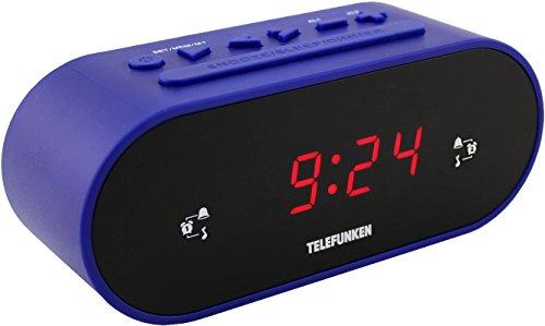 Telefunken R900 Radiowecker (UKW-Radio, PLL-Tuner, Dual Alarm, Sleep-Timer, LED-Anzeige)