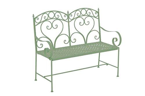 Gartenbank CP025, Metallbank 107cm ~ antik-grün