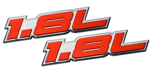 Gli-emblem Vw (2 x (pair/Set) 1.8L Liter Embossed RED on Highly Polished Silver Real Aluminum Auto Emblem Badge Nameplate for Kia Spectra LS Sephia Elantra Forte LX Scion xD Hatchback 4 5 door Hyundai Elantra GLS Volkswagen VW Golf GTI New Classic Beetle GLX Jetta GLI Passat GL Cabrio 1.8T Sedan coupe 2 3 4 5 2dr 3dr 4dr 5dr door hatchback turbo turbocharged)