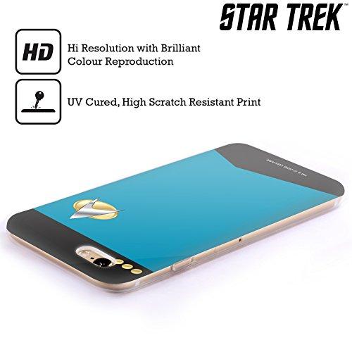 Offizielle Star Trek Captain Uniformen Und Plaketten TNG Soft Gel Hülle für Apple iPhone 6 / 6s Kommandant