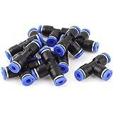 sourcingmap® 10 pcs 4mm 3 raccord t'enfoncer tube dégagement rapide pneumatique Connecteurs Raccords