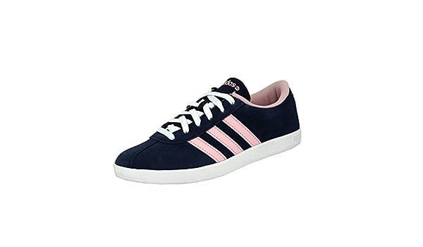 chaussures de tennis femme vlcourt bleu rose adidas - 61 ...
