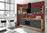 respekta salle à manger cuisine bloc de cuisine cuisine intégrée 250 cm Chêne sauvage gris