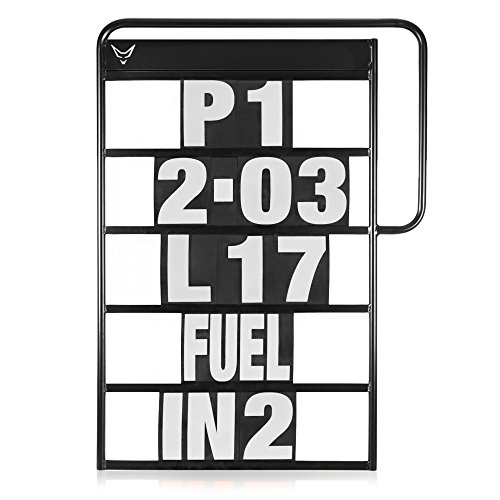 Pitboard, Boxentafel, Infotafel, klein, Set mit 37 Karten, weiss, RACEFOXX