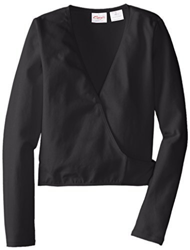 Capezio Little Girls' Classics Wrap Top, Black, Small by Capezio Girls 2-6x (Capezio Wrap)