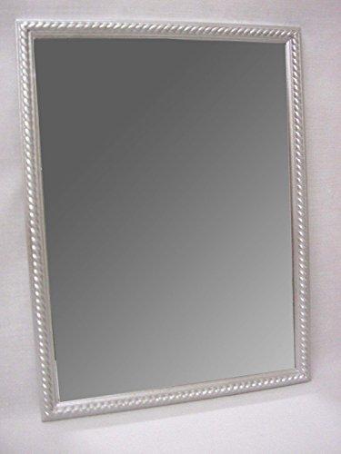 Desconocido Espejo Pared Madera Cordon Mediano Plateado Horizontal Y Vertical