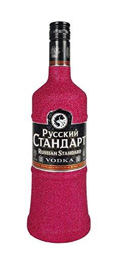 Russian-Standard-Vodka-70cl-40-Vol-Bling-Bling-Glitzerflasche-in-hot-pink-Enthlt-Sulfite