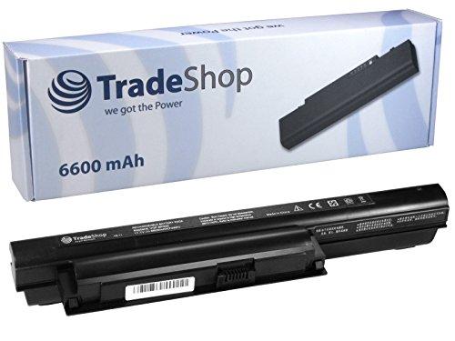 TradeShop Premium Li-Ion Akku 10,8V/11,1V 6600mah ersetzt Sony VGP-BPS22 VGP-BPL22 VGP-BPS22/A VGP-BPS22A für Sony VAIO VPC EB16EB17 EB18 EB19 EB1 EA1S1E EA1S2C EA1S3C EA1S5C