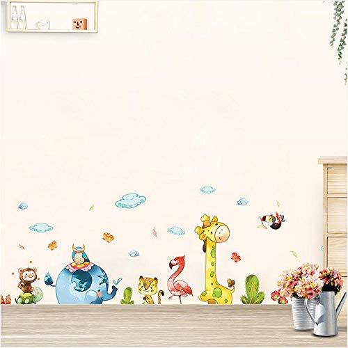 Shuyinju Cute Cartoon Tiere Baseboard Wandaufkleber Für Kinderzimmer Affen Elefant Flamingo Giraffe Pvc Diy Kunst Aufkleber Hauptdekorationen