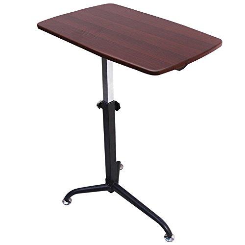 azy Computer Schreibtisch Sofa Beistelltisch kann Heben, kann es multifunktionale Kleine Schreibtisch zu bewegen (Farbe : Kirschholz) ()