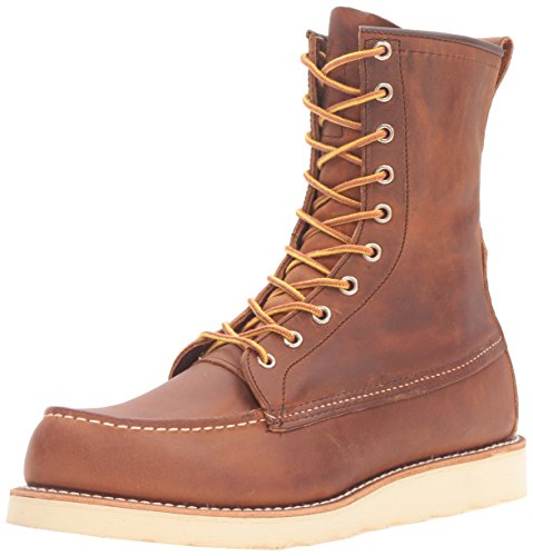 Red Wing Mens 8'' Moc Toe Classic 8830 Copper Leather Boots 8.5...