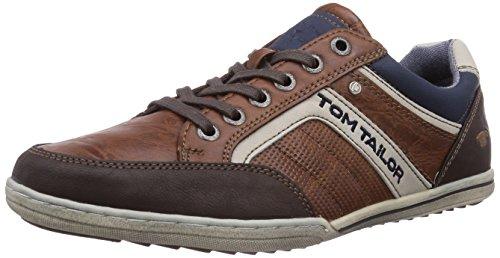 Tom Tailor Tom Tailor Herrenschuhe, Low-Top Sneaker uomo, Marrone (Cognac), 44