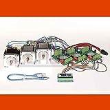 3D CNC USB Controlador de motor paso a paso Fresadora con Software, 3 x NEMA 23 motors (2,0 A) y 3 Finales de Carreras