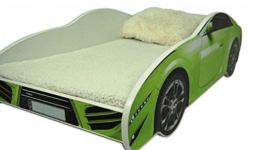 hogartrend Toddler Beds Car green hogartrend Children's Bed 140x 70in the form of a car with foam mattress 4