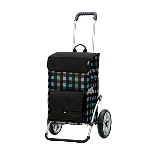 Andersen Shopper Royal mit kugelgelagertem Rad 25 cm und 49 Liter Tasche Riva schwarz mit Kühlfach