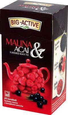 BIG ACTIVE Schwarzer Tee mit Himbeere (20 Beutel) 40 g