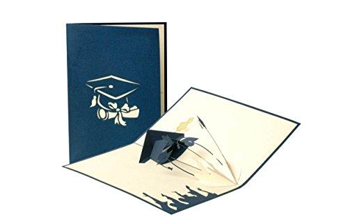Geschenkideen Graduation Karte, Examen, Glückwunsch, Geschenk, Bachelor, Master, Pop-Up Karte C11