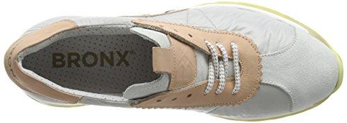Bronx - Brodax, Scarpe da ginnastica Donna Mehrfarbig (1564 White/l. grey/blush)
