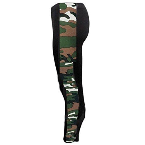 Janisramone Donne signore di formato sexy leggings stampati elastico di jeggings pantaloni 8-22 Pannello Laterale Dell'esercito