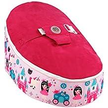 Bean Bag Planet - Silla puff, diseño dibujo de princesas, color rosa