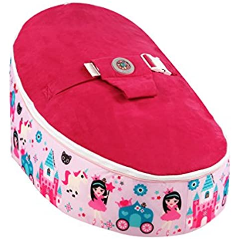 Bean Bag Planet - Silla puff, diseño dibujo de princesas, color rosa
